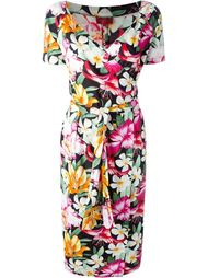 приталенное платье с запахом Kenzo Vintage