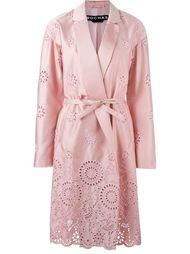 пальто с перфорированным дизайном  Rochas