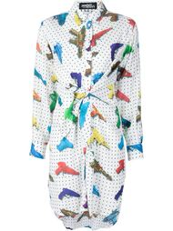 платье-рубашка с принтом водяных пистолетов Jeremy Scott