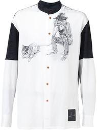 рубашка с контрастным принтом Yohji Yohji Yamamoto
