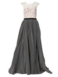 вечернее платье с кружевными деталями  Oscar de la Renta