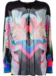 блузка с принтом Roberto Cavalli