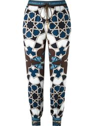 geometric print track pants Versace Collection