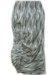 юбка миди с принтом зебры A.W.A.K.E