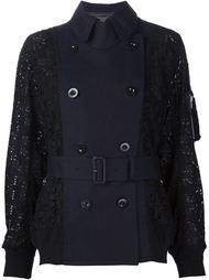 кружевная куртка-бомбер с поясом Sacai