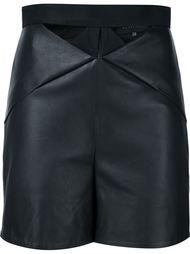 кожаные шорты с вырезными деталями Iris Van Herpen