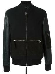 куртка-бомбер с контрастными карманами Blood Brother