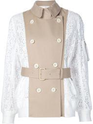 куртка-бомбер  с кружевной отделкой Sacai