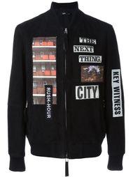 куртка-бомбер с нашивками Blood Brother