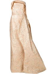 вечернее платье без бретелей Christian Siriano