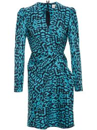 платье с леопардовым принтом Lanvin