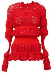 вязаный свитер с вырезами  Helen Lawrence