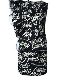 платье без рукавов  Lanvin