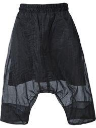 прозрачные шорты с заниженной проймой Julius