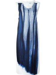 платье с вышивкой  DKNY