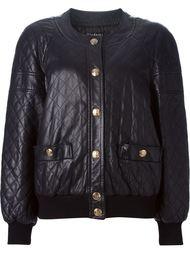 куртка-бомбер со стеганым эффектом Chanel Vintage