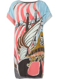 платье шифт с принтом корабля Tsumori Chisato