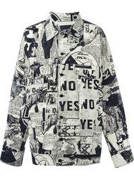 пиджак с принтом газет  KTZ