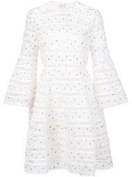 полосатое платье с вышивкой Zimmermann