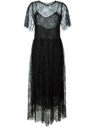 кружевное платье с короткими рукавами Forte Forte