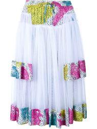 кринолиновая юбка миди из жоржета Adam Selman