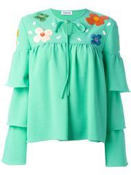 блузка с вышивкой Au Jour Le Jour