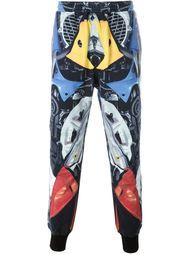 брюки с абстрактным принтом   KTZ