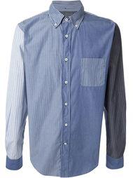 рубашка с панелями  в полоску  Wooster + Lardini