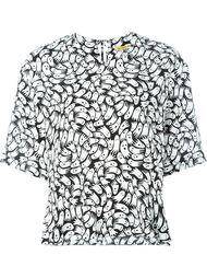 блузка с принтом  Peter Jensen