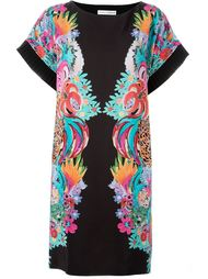 платье шифт с цветочным принтом Tsumori Chisato