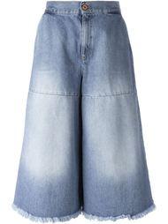 джинсовые кюлоты с линялым эффектом  Off-White