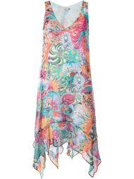 асимметричное платье с цветочным принтом   Tsumori Chisato