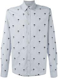 рубашка с вышивкой пальм  Tomas Maier