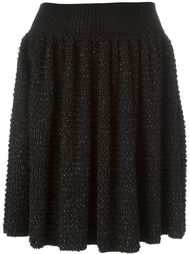 вязаная плиссированная юбка  Alexander McQueen