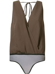 sleeveless cache-coeur blouse Andrea Marques
