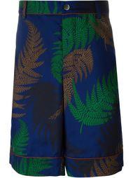 шорты с принтом папоротников Sacai