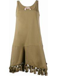 платье с кисточками и помпонами Nº21