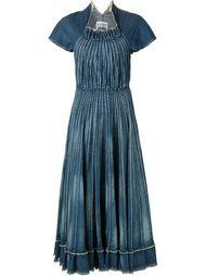 джинсовое плиссированное платье Junya Watanabe Comme Des Garçons