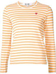 полосатая футболка с вышивкой сердца Comme Des Garçons Play