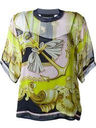 прозрачная блузка с принтом барокко  Marco Bologna