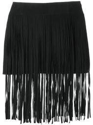 юбка с бахромой  McQ Alexander McQueen