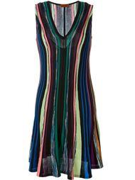 вязаное расклешенное платье  Missoni