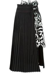 плиссированная юбка А-образного кроя   Sacai