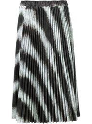 плиссированная юбка с зебровым принтом Comme Des Garçons