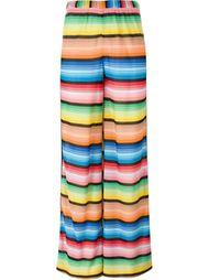 трикотажные брюки-палаццо в полоску Missoni