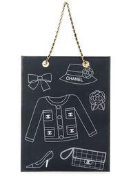 сумка-тоут с принтом логотипов Chanel Vintage