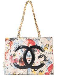 стеганая сумка-тоут с цепочной отделкой Chanel Vintage