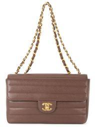 стеганая сумка на плечо с цепочной отделкой Chanel Vintage