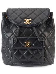 стеганый рюкзак с цепочной отделкой Chanel Vintage