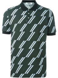 контрастная футболка-поло  MSGM